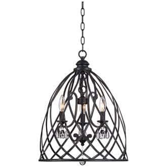 franklin iron works bell cage 22 high metal mini chandelier. Black Bedroom Furniture Sets. Home Design Ideas
