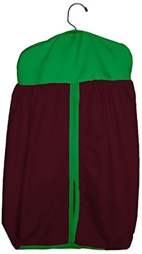 Baby Doll Reversible Diaper Stacker, Brown/Green
