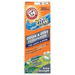 Arm & Hammer® Carpet Powder, w/ Oxiclean, Extra Strength, 30 oz. (CHU84133) Category: Carpet Cleaners and Deodorizers