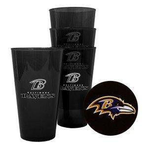 Boelter Brands - Baltimore Ravens Plastic Pint Glass Set