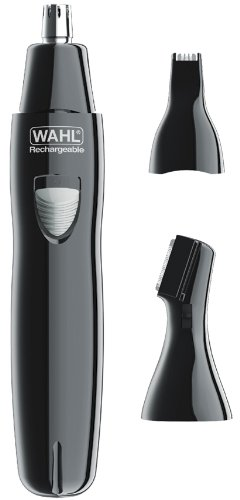 Wahl 9865-300 Deluxe Groomer Rechargeable Ear, Nose and Eyebrow Trimmer, Chrome