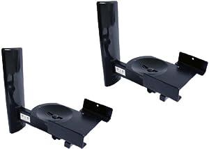 B-Tech BT77 - Ultragrip ProTM- Support mural pour haut-parleurs avec dispositif de blocage latéral, inclinaison et orientation - Finitions : noir