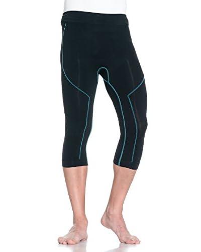 S Fitness Pantalone Tecnico Walk [Nero/Blu]