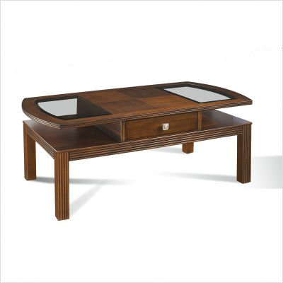 Somerton Home 010-04 Gracious Living Cocktail Coffee Table, Dark