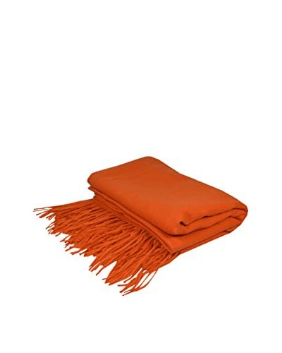 PÜR Cashmere Merino Wool Throw, Persimmon