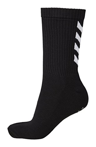 Hummel - Calzini Fundamental 3-Pack, Unisex, Socken FUNDAMENTAL 3-PACK Socks, Black, 12 (41-45)
