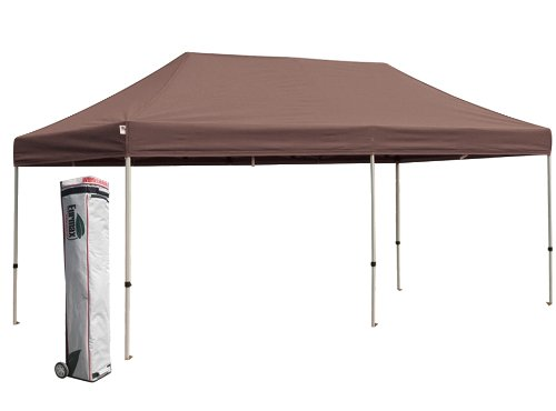 Eurmax PRO 10x20 Pop up Party Tent Instant Canopy Gazebo Shelter High Commercial Level (Brown) image
