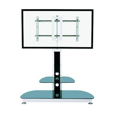 Cheap 45″ TV Stand in Black with Universal Flat Screen Mount (GKR-689-10)
