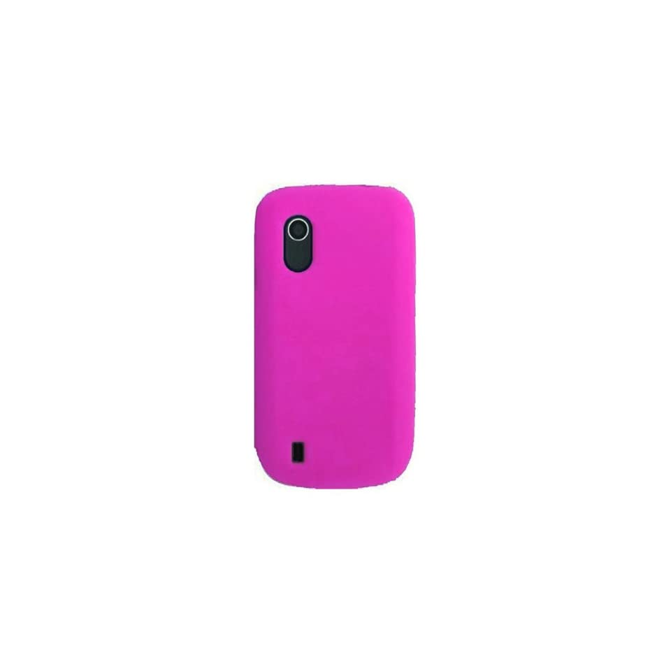 HHI Silicone Skin Case for ZTE V768 Concord   Hot Pink (Package include a HandHelditems Sketch Stylus Pen)