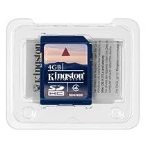 Kingston 4 GB Class 4 SDHC Flash Memory Card SD4 - 4GBET