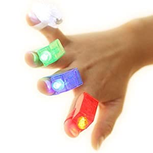 Strap On LED Fingers - Set of 4
