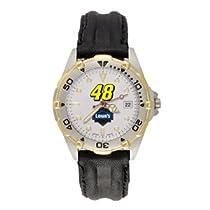 LogoArt Jimmie Johnson All Star Watch w/Leather Strap - Jimmie Johnson One Size
