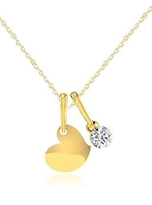 Friendly Diamonds Conjunto de cadena y colgante FDP12302Y Oro Amarillo