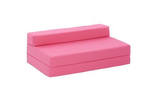 Lyon Double Chair Bed in Pink Cotton Drill