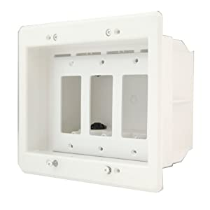 Ordinaire Arlington DVFR3W 1 Recessed Electrical Outlet Mounting Box With Paintable  Wall Plate, 3 Gang, White