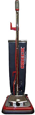 """Oreck Commercial OR101 Premier Helping Hand Handle Upright Vacuum with Magnet, 870W, 12"""" Vacuum Width"""
