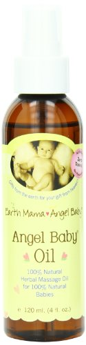 Earth Mama Angel Baby, Angel Baby Oil, 4 Ounce