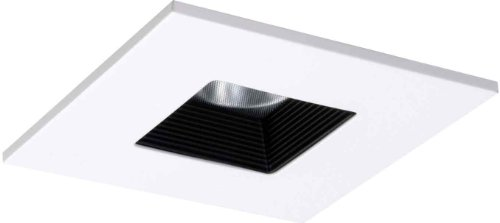 Halo Recessed Tls408Whbb 4-Inch Led Trim Square With Solite Regressed Lens And Black Baffle-White Ring
