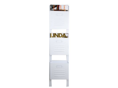 PT Magazine Rack Industry, Steel, White