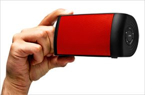 The OontZ Red Ultra-Portable Wireless Bluetooth Speaker by Cambridge SoundWorks