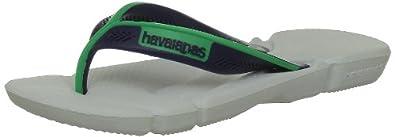 Havaianas Boys' Kids Power Thong Sandals White Blanc (White/Navy Blue) 27-28