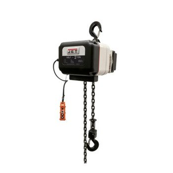 Jet 180221 Volt-200-03P-20 2 Ton 3-Phase 460V Electric Chain Hoist With 20 Ft. Lift