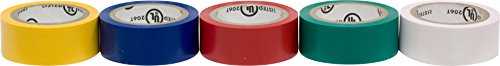 Ge 18156 Electrical Tape, 14-Feet, White/Yellow/Blue/Green/Red