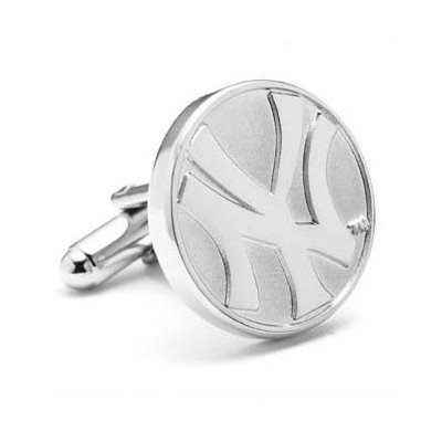 MLB New York Yankees Silver Edition Cufflinks