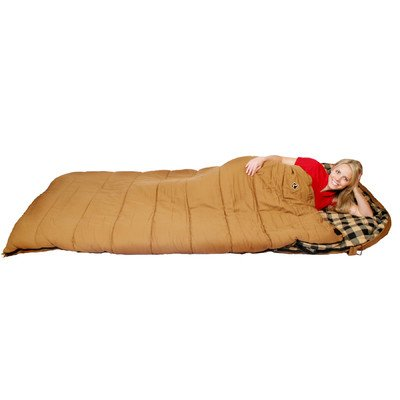 Ledge Sports Outfitter +0 F Degree XL Oversize Flannel Lined Sleeping Bag (Brown, 90 X 40)