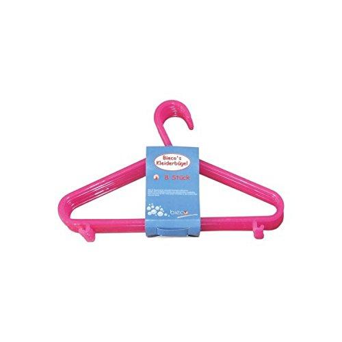 Imagen principal de Bieco 04-014144 - Percha Kid, conjunto de 8, rosa, 30 cm, Perchero