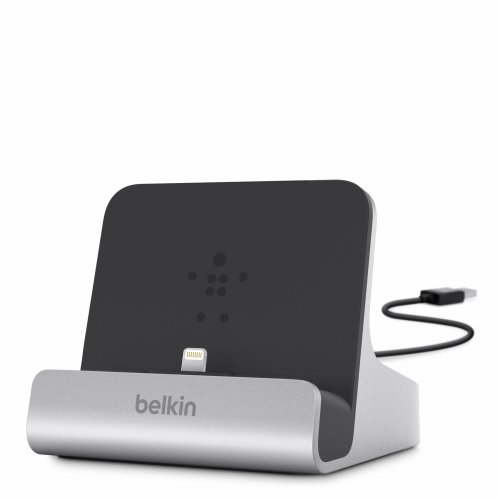 Belkin Chargesync Express Dock With Lightning Cable Connector And Adjustable Dial For Ipad Air, Ipad Air 2, Ipad 4Th Gen, All Ipad Mini Models, Iphone 5 / 5S / 5C, And Ipod Touch 7Th Gen