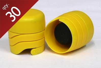 Yellow Zork Closures - 30 ct.