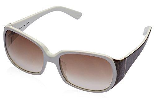 Fendi Fendi Rectangular Sunglasses (White) (FS 461|110|Free Size) (Multicolor)