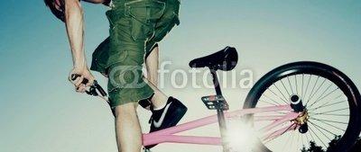 Wallmonkeys Peel and Stick Wall Decals - Teenage Boy on Bmx Bike - 18