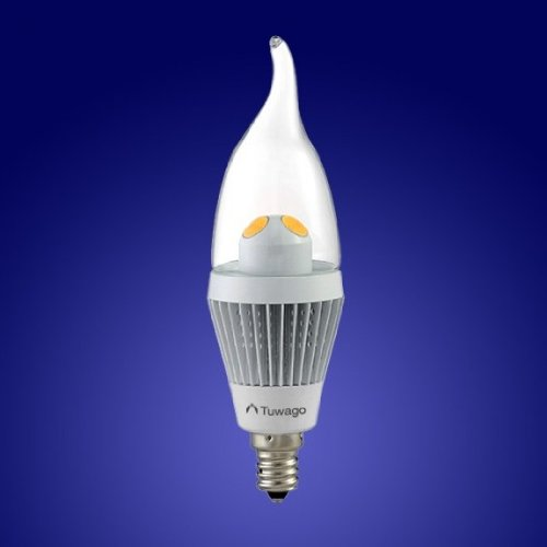LED Bulbs: Tuwago 3.8w LED Dimmable Candelabra Bulb - Clear