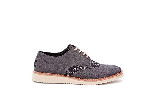 45a344f37f7 Men s Brogue Casual Shoe Black Chambray Floral 11.5 D(M) US