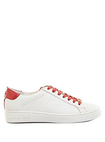 Michael Kors 43R6IRFS1L Sneakers Donna 100% Pelle Bianco/rosa Bianco/rosa 39