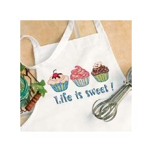Dimensions Stamped Cross Stitch Life Is Sweet Apron