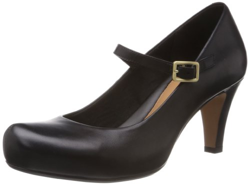 Clarks Chorus Jazz 20352864, Scarpe col tacco donna, Nero (Schwarz (Black Leather)), 37