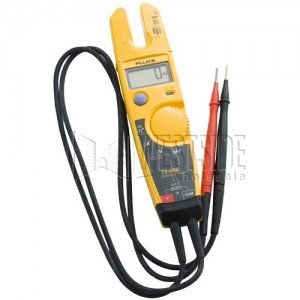 Fluke T5-600 Voltage, Continuity and Current Digital Electrical Tester Meter - 600V-2PK