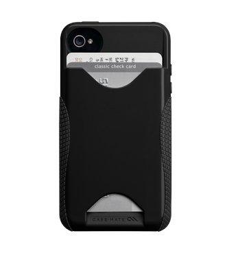 Case-mate iPhone 4/4S用 ハイブリッドシームレスIDケース Pop ブラック/ブラック CM018164