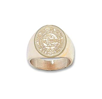 West Virginia Mountaineers Seal Mens Ring Size 10 1 2 - 14KT Gold Jewelry by Logo Art