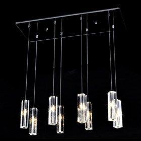 Luminaire suspendu 160w avec 8 projecteurs cristaux for Luminaire ampoule suspendu