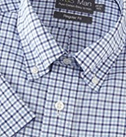 Pure Cotton Easy Iron Long Sleeve Checked Oxford Shirt