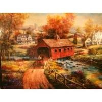 Country Crossing 500 Piece Jigsaw Puzzle by T.C. Chiu