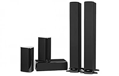 Definitive Technology BP-8060 SuperTower Home Theater Bundle with Built-In Powered Subwoofers (Gloss Black) by Definitive Technology