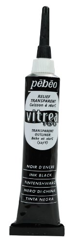 Pebeo Vitrea 160 Glass Paint Outliner 20-Milliliter Tube, Ink Black (Glass Painting Liner compare prices)