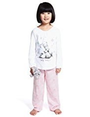 Pure Cotton Tatty Teddy Pyjamas with Toy