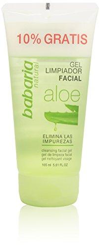 Babaria Gel Struccante, Aloe Vera Gel Limpiador Facial, 150 ml