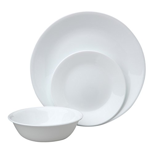 Corelle Livingware Dinnerware Set Winter Frost White
